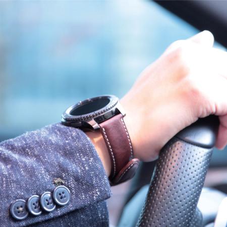 SLG D6 Samsung Gear S3 Minerva Box Leather Strap - Brown