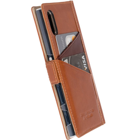 Krusell Sigtuna Sony Xperia XZ Smart Window Case - Cognac