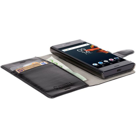 Krusell Ekero Sony Xperia X Compact 2-in-1 Folio Wallet Case - Black