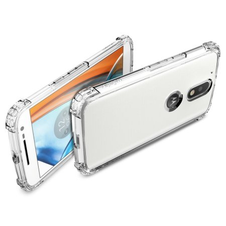 Spigen Crystal Shell Moto G4 / G4 Plus Case - 100% Clear