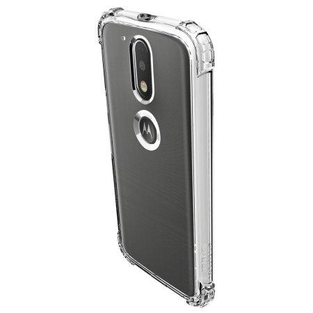 size 40 98955 0b0eb Spigen Crystal Shell Moto G4 / G4 Plus Case - 100% Clear