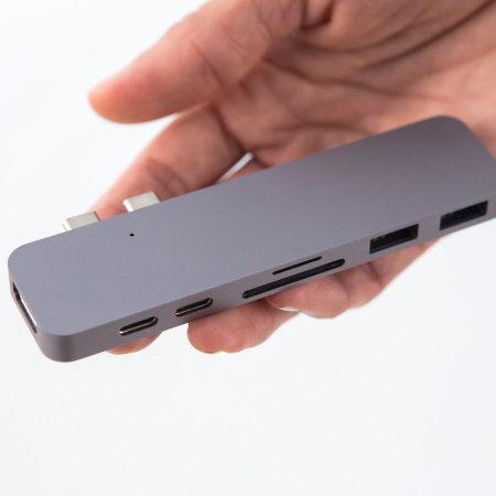 HyperDrive Compact Thunderbolt 3 USB-C MacBook Pro Hub - Space Grey