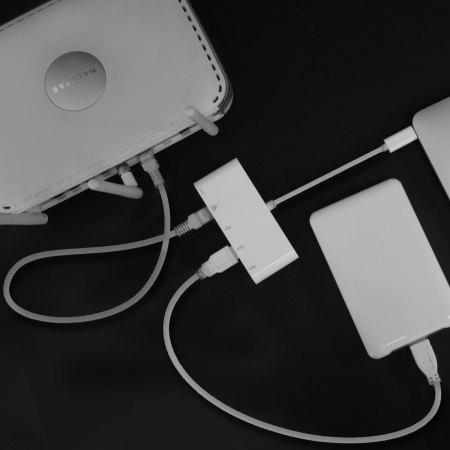 Hub USB-C & adaptateur Ethernet Macally avec 4 ports USB