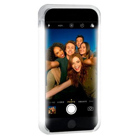 sale retailer a03b9 dff25 LuMee Two iPhone 7 Plus / 6S Plus / 6 Plus Selfie Light Case - White