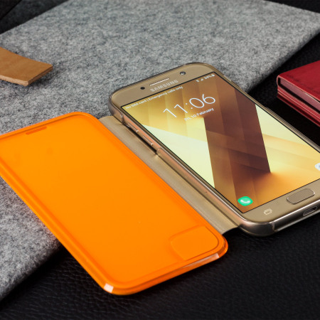 Official Samsung Galaxy A3 2017 Neon Flip Cover - Gold