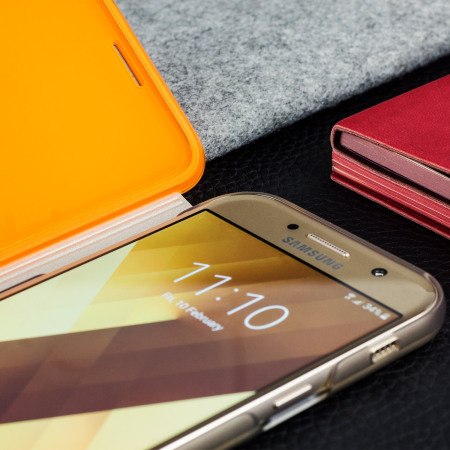 Official Samsung Galaxy A3 2017 Neon Flip Cover - Gold