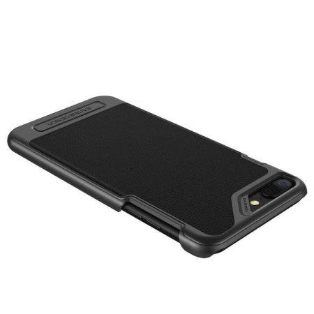 vrs design simplimod leather-style iphone 7 plus case - black