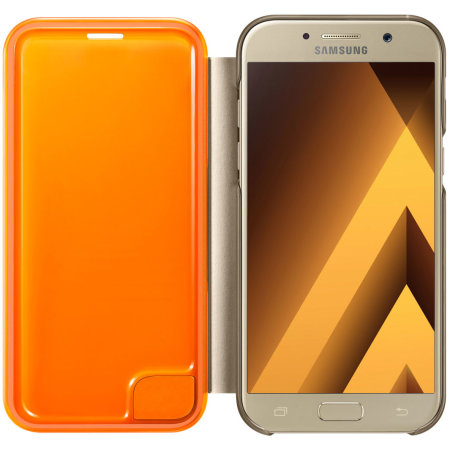 Official Samsung Galaxy A5 2017 Neon Flip Cover - Gold