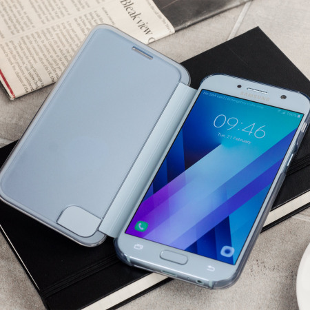 Official Samsung Galaxy A5 2017 Clear View Cover Case - Blue
