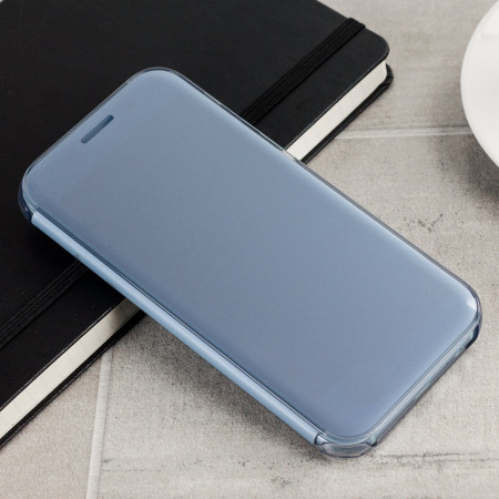 detailed look 48459 0c372 Official Samsung Galaxy A5 2017 Clear View Cover Case - Blue