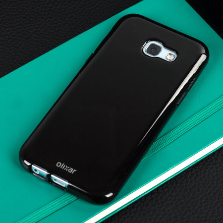Olixar FlexiShield Samsung Galaxy A5 2017 Gel Case - Solid Black