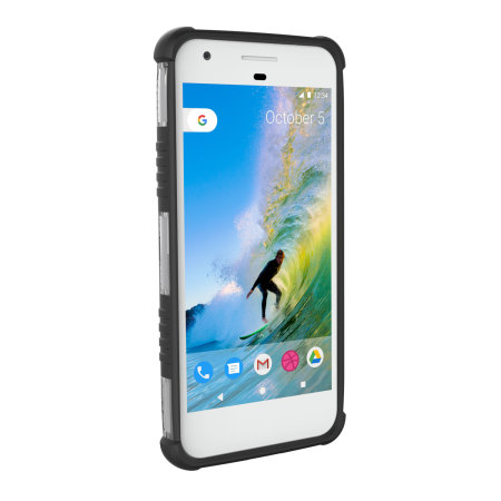 UAG Plasma Google Pixel Protective Case - Ice / Black