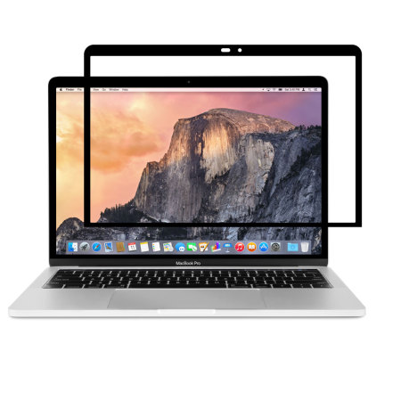 moshi ivisor macbook pro 13 with touch bar screen protector black. Black Bedroom Furniture Sets. Home Design Ideas