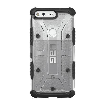 uag plasma google pixel protective case ice black