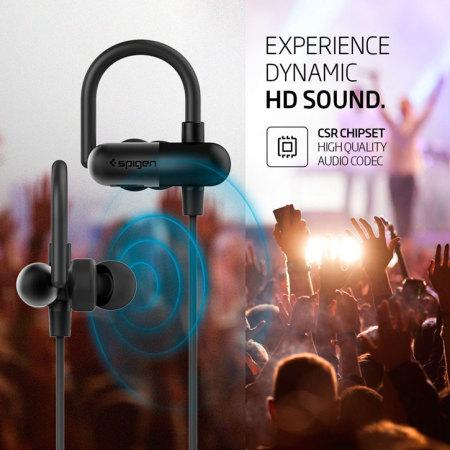 bijvoorbeeld een spigen r52e wireless bluetooth earphones black inside