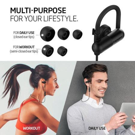 spigen r52e wireless bluetooth earphones black