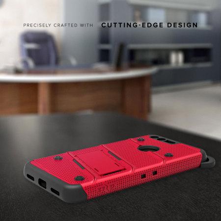 Zizo Bolt Series Google Pixel XL Tough Case & Belt Clip - Red / Black