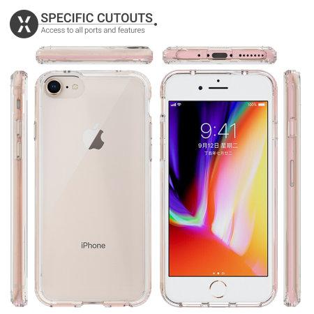 olixar exoshield tough snap on iphone 7 case crystal clear