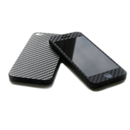 Easyskinz iPhone SE / 5S / 5 3D Textured Carbon Fibre Skin - Black