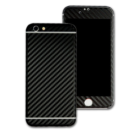 Easyskinz iPhone 6S / 6 3D Textured Carbon Fibre Skin - Black