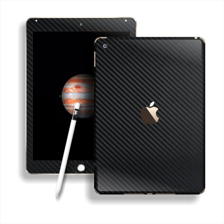 Easyskinz iPad Pro 12.9 2015 3D Textured Carbon Fibre Skin - Black