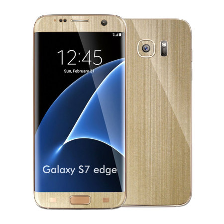 Easyskinz Samsung Galaxy S7 Edge Brushed Metal Skin - Champagne Gold