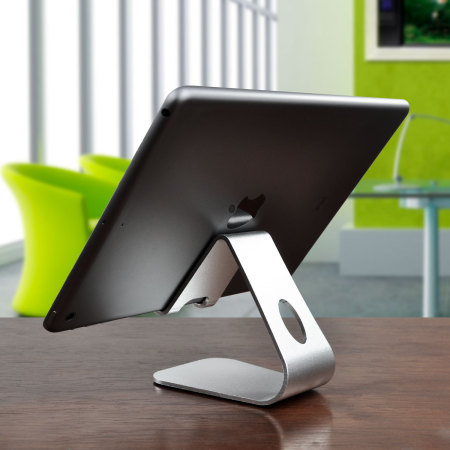 Universal Premium Metal Smartphone and Tablet Stand - Silver