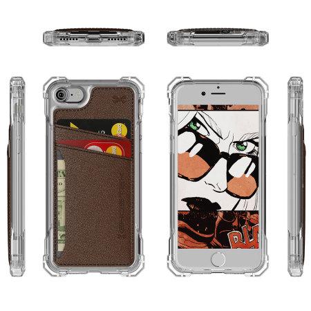 Ghostek Exec Series iPhone 7 Wallet Case - Brown