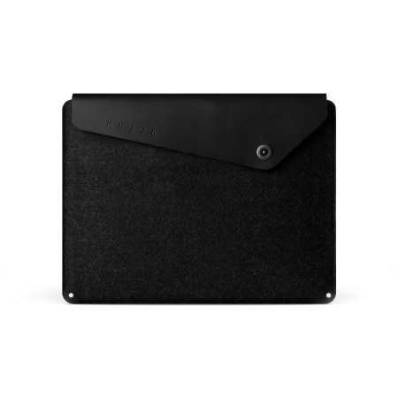 Mujjo MacBook Pro Retina 15 inch Genuine Leather Sleeve - Black