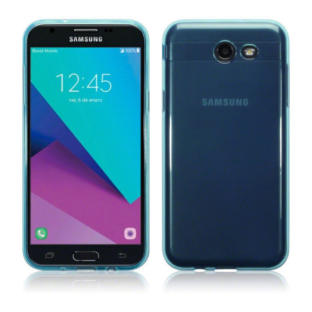 Olixar FlexiShield Samsung Galaxy J3 2017 Gel Case - Blue - US Version