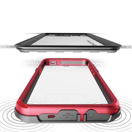 ghostek atomic 3 0 samsung galaxy s8 waterproof tough case red 5 included the