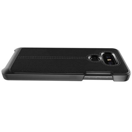 VRS Design Simpli Mod Leather-Style LG G6 Case - Black