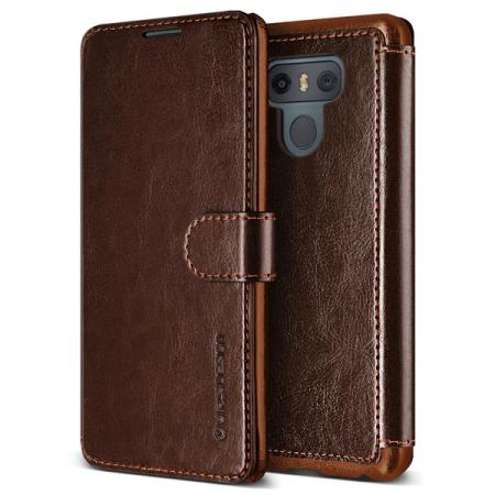 Housse lg g6 vrs design dandy simili cuir marron fonc for Housse lg g6