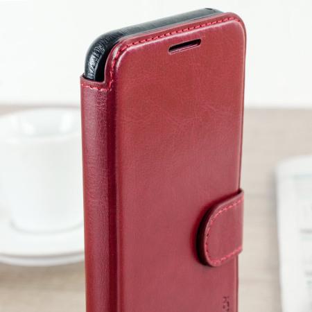 samsung galaxy s8 wallet case red