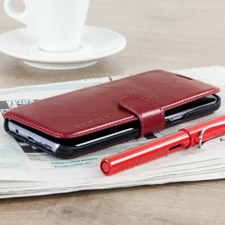 Housse Samsung Galaxy S8 VRS Design Dandy Simili Cuir - Rouge