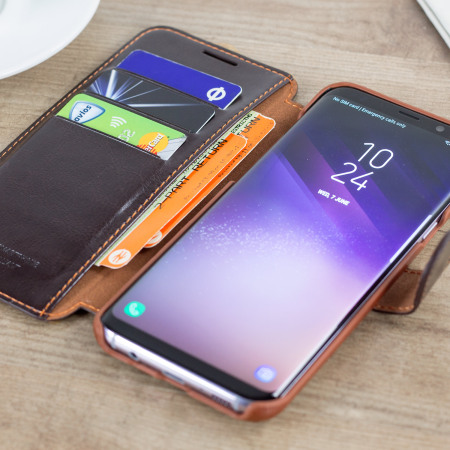 for vrs design dandy leather style samsung galaxy s8 wallet case black 1