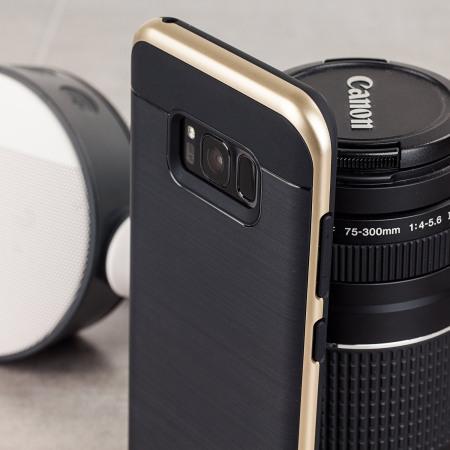 VRS Design High Pro Shield Samsung Galaxy S8 Plus Case - Shine Gold