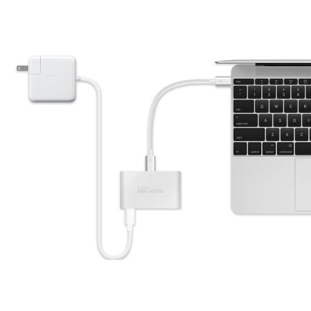 Promate uniHub-C 4-in-1 Compact USB-C Hub with Power Delivery - Silver