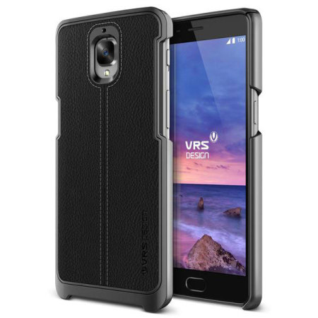VRS Design Simpli Mod Leather-Style OnePlus 3T / 3 Case - Black
