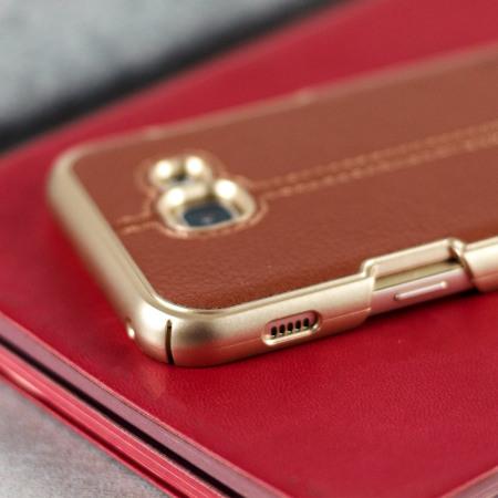 VRS Design Simpli Mod Leather-Style Samsung Galaxy A5 2017 Case- Brown