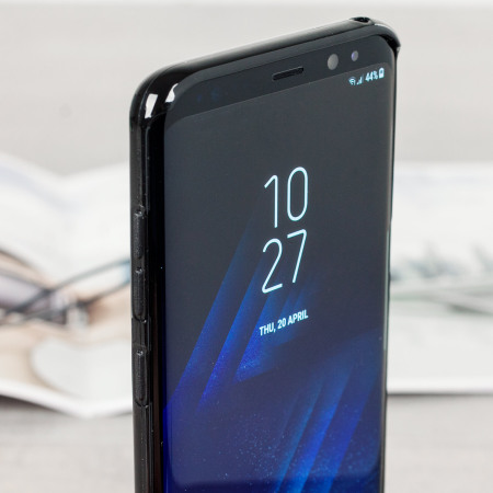 Olixar FlexiShield Samsung Galaxy S8 Plus Gel Case - Solid Black
