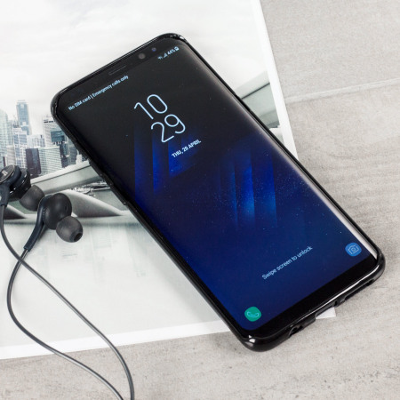 in-built video player olixar flexishield samsung galaxy s8 plus gel case solid black lauren