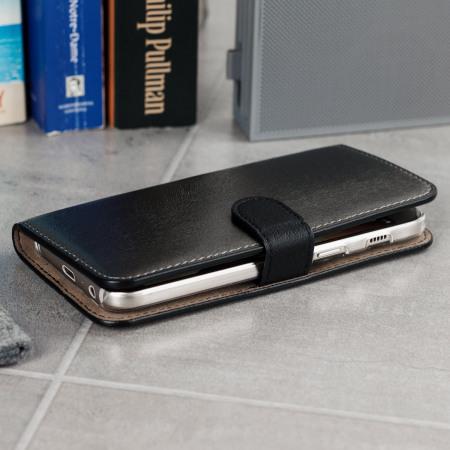 Hansmare Calf Samsung Galaxy A3 2017 Wallet Case - Black