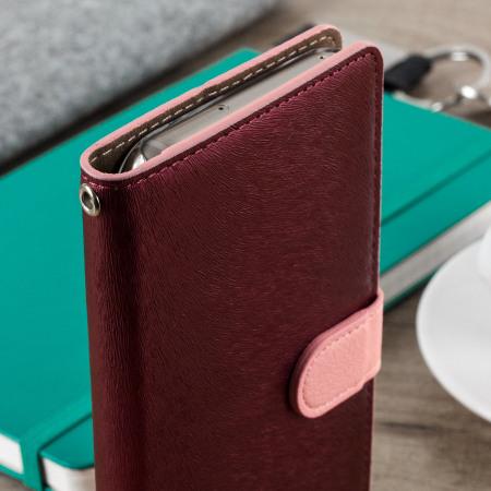 promo code 20479 bd5ae Hansmare Calf Samsung Galaxy A5 2017 Wallet Case - Pink
