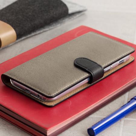 freash hansmare calf samsung galaxy a5 2017 wallet case golden black exclusive customer