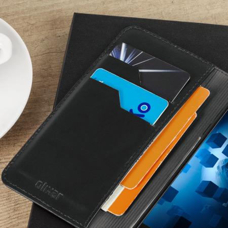 Olixar Genuine Leather OnePlus 3T / 3 Executive Wallet Case - Black