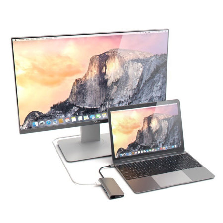 Satechi USB-C Aluminium Multi-Port 4K HDMI Adapter & Hub - Space Grey