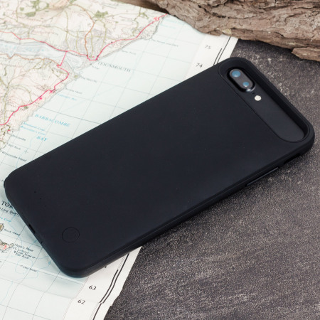 slim fit 4,000mah iphone 8 / 7 plus battery case - black