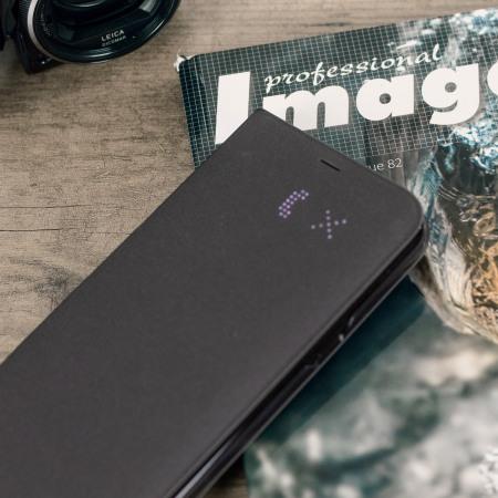 LED Flip Wallet Cover Officielle Samsung Galaxy S8 - Noire