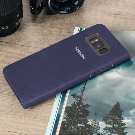 Official Samsung Galaxy S8 LED Flip Wallet Cover Case - Violet